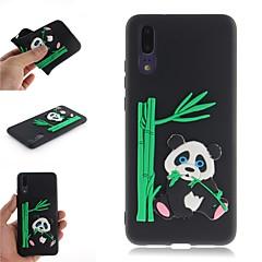 お買い得  Huawei Pシリーズケース/ カバー-ケース 用途 Huawei P20 / P20 Pro パターン バックカバー 3Dカトゥーン / パンダ ソフト TPU のために Huawei P20 / Huawei P20 Pro / Huawei P20 lite