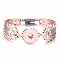 abordables Bijoux pour Femme-Femme Le style rétro Bracelets Vintage Large bracelet - Flower Shape Rétro, Romantique, Doux Bracelet Argent / Jaune Clair / Or Rose Pour Cadeau Sortie