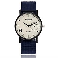 preiswerte Herrenuhren-Herrn Armbanduhr Chinesisch Neues Design / Armbanduhren für den Alltag / Cool Stoff Band Freizeit / Modisch Schwarz / Blau / Rot