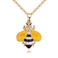 preiswerte Halsketten-Damen Stilvoll Anhängerketten - Strass Biene Zeichentrick, Europäisch, Modisch Weiß, Gelb 40 cm Modische Halsketten Schmuck 1pc Für Alltag