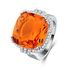 preiswerte Ringe-Damen Kubikzirkonia Stapel Ring - Kupfer, Platiert überdimensional 6 / 7 / 8 / 9 / 10 Orange Für Party
