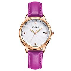 お買い得  レディース腕時計-SANDA 女性用 ドレスウォッチ リストウォッチ 日本産 クォーツ ブラック / 白 / レッド 30 m 耐水 カレンダー 夜光計 ハンズ レディース カジュアル ファッション - Brown レッド ピンク