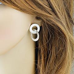 お買い得  イヤリング-女性用 スタイリッシュ スタッドピアス  -  幸運な ベーシック, ファッション ゴールド / シルバー 用途 日常 デート