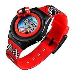 preiswerte Armbanduhren für Paare-SKMEI Damen Paar Armbanduhr Digitaluhr digital Kalender Niedlich Cool Silikon Band digital Zeichentrick Modisch Blau / Rot / Grau - Rot Blau Hellblau