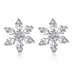preiswerte Ohrringe-Damen Stilvoll Ohrstecker - Diamantimitate Schneeflocke Süß, Modisch Silber Für Alltag Verabredung