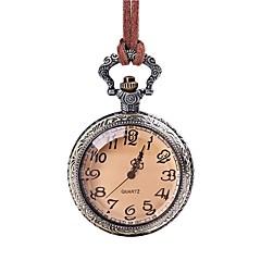 abordables Relojes de Bolsillo-Mujer Reloj de Bolsillo Encantador Piel Banda Vintage Marrón