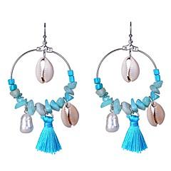 preiswerte Ohrringe-Damen Türkis Quaste / Stilvoll Tropfen-Ohrringe - Künstliche Perle Stilvoll, Quaste Silber Für Alltag