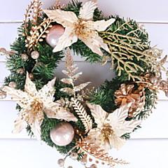 abordables Decoración del Hogar-Guirnaldas Vacaciones El plastico Redondo Novedades Decoración navideña