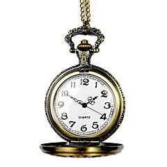 abordables Relojes de Bolsillo-Hombre Reloj de Bolsillo Huecograbado Aleación Banda Vintage / Esqueleto Bronce