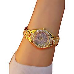 preiswerte Damenuhren-Damen Armbanduhr Quartz Chronograph leuchtend Armbanduhren für den Alltag Legierung Band Analog Armreif Elegant Gold - Gold / Imitation Diamant