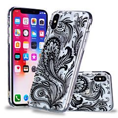 Недорогие Кейсы для iPhone 6-Кейс для Назначение Apple iPhone X / iPhone 8 Plus С узором Кейс на заднюю панель Кружева Печать Мягкий ТПУ для iPhone X / iPhone 8 Pluss / iPhone 8