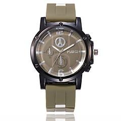 preiswerte Herrenuhren-Herrn Sportuhr / Armbanduhr Chinesisch Neues Design / Armbanduhren für den Alltag / Imitation Diamant Silikon Band Freizeit / Modisch Schwarz / Blau / Grün