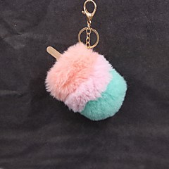preiswerte Schlüsselanhänger-Schlüsselanhänger Grün / Blau / Rosa Geometrische Form Kaninchen Haare, Aleación Süß Für Verabredung / Ausgehen