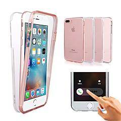 Недорогие Кейсы для iPhone 7 Plus-Кейс для Назначение Apple iPhone X / iPhone XS / iPhone XR Защита от удара / Прозрачный Чехол Однотонный Твердый ПК для iPhone XS / iPhone XR / iPhone XS Max