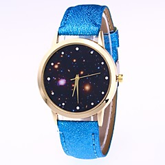 preiswerte Damenuhren-Herrn Damen Armbanduhr Digitaluhr Quartz Armbanduhren für den Alltag lieblich Leder Band Analog Freizeit Modisch Schwarz / Weiß / Blau - Rot Blau Rosa
