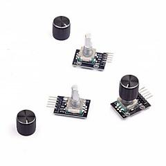 お買い得  センサー-arduino用ノブキャップ付き3pcsロータリエンコーダモジュール