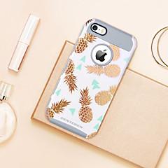voordelige iPhone-hoesjes-bentoben case voor apple iphone 5 case plating / doorschijnende / patroon achterkant fruit zachte tpu / pc voor iphone se / 5s / iphone 5