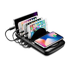 hesapli Şarj Aletleri-Akıllı telefonlar ve tabletler için kablosuz şarj istasyonu - hızlı kablosuz şarj cihazı standı, 2'si 1 arada USB şarj cihazı ve kablosuz şarj pedi (siyah)
