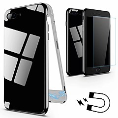 Недорогие Кейсы для iPhone 7-Кейс для Назначение Apple iPhone 8 / iPhone 8 Plus IMD Кейс на заднюю панель Однотонный Твердый Закаленное стекло для iPhone X / iPhone 8 Pluss / iPhone 8