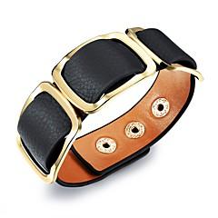 preiswerte Armbänder-Herrn Klassisch Lederarmbänder - Titanstahl, vergoldet Stilvoll, Europäisch Armbänder Schwarz / Orange / Regenbogen Für Strasse