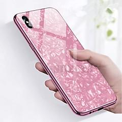 Недорогие Кейсы для iPhone X-Кейс для Назначение Apple iPhone X / iPhone 8 Защита от удара / Покрытие Кейс на заднюю панель Мрамор Твердый Закаленное стекло для iPhone X / iPhone 8 Pluss / iPhone 8