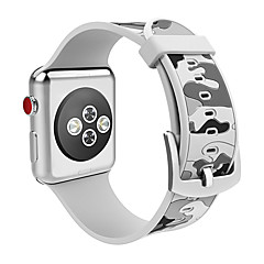 preiswerte Herrenuhren-Silica Gel Uhrenarmband Gurt für Apple Watch Series 3 / 2 / 1 Blau / Grün / Grau 23cm / 9 Zoll 2.1cm / 0.83 Inch