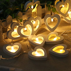 preiswerte LED Lichtstreifen-1.2 Leuchtgirlanden 10 LEDs Warmes Weiß Cool AA-Batterien angetrieben 1pc