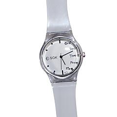 preiswerte Tolle Angebote auf Uhren-Damen Quartz Caucho Band Analog Weiß