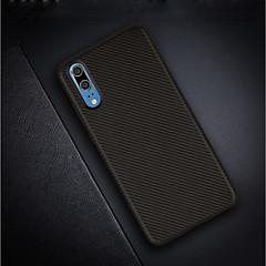 お買い得  Huawei Pシリーズケース/ カバー-ケース 用途 Huawei P20 / P20 Pro 超薄型 / つや消し バックカバー ソリッド ソフト カーボンファイバー のために Huawei P20 / Huawei P20 Pro / Huawei P20 lite