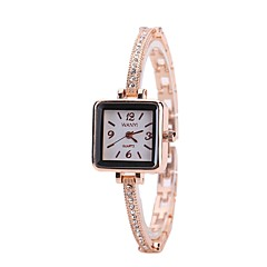 preiswerte Damenuhren-Damen Kleideruhr Armbanduhr Quartz Neues Design Armbanduhren für den Alltag Imitation Diamant Legierung Band Analog Modisch Elegant Rotgold - Rotgold Ein Jahr Batterielebensdauer