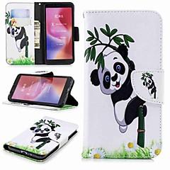 Недорогие Чехлы и кейсы для Xiaomi-Кейс для Назначение Xiaomi Redmi Note 5 Pro / Redmi 6 Кошелек / Бумажник для карт / со стендом Чехол Панда Твердый Кожа PU для Xiaomi Redmi Note 5 Pro / Redmi 6A / Redmi 6