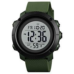 お買い得  メンズ腕時計-SKMEI 男性用 スポーツウォッチ 軍用腕時計 日本産 デジタル 50 m 耐水 アラーム カレンダー PU バンド デジタル ぜいたく ファッション ブラック / ブルー / グリーン - グリーン ブルー ブラック / ホワイト 1年間 電池寿命