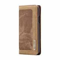 Недорогие Кейсы для iPhone X-Кейс для Назначение Apple iPhone X Кошелек / Бумажник для карт / Флип Чехол Однотонный Твердый текстильный для iPhone X / iPhone 8 Pluss / iPhone 8
