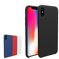 abordables Fundas para iPhone 6 Plus-Funda Para Apple iPhone X / iPhone 8 Congelada Funda Trasera Un Color Suave TPU para iPhone X / iPhone 8 Plus / iPhone 8