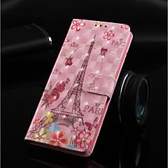 Недорогие Кейсы для iPhone-Кейс для Назначение Apple iPhone XR / iPhone XS Max Кошелек / Бумажник для карт / со стендом Чехол Бабочка / Эйфелева башня Твердый Кожа PU для iPhone XS / iPhone XR / iPhone XS Max