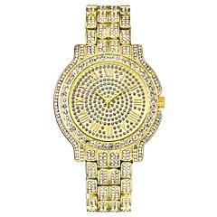 お買い得  メンズ腕時計-男性用 ドレスウォッチ リストウォッチ クォーツ クロノグラフ付き クリエイティブ 新デザイン 合金 バンド ハンズ ぜいたく 光沢タイプ シルバー / ゴールド - ゴールド シルバー 1年間 電池寿命 / ステンレス