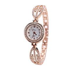 preiswerte Damenuhren-Damen Armband-Uhr Armbanduhr Quartz Neues Design Armbanduhren für den Alltag Imitation Diamant Legierung Band Analog Modisch Elegant Silber / Rotgold - Rotgold Gold / Weiß Rotgold / Weiß Ein Jahr