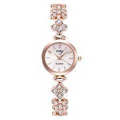 abordables Relojes Brazalete-Mujer Reloj Pulsera Reloj de Pulsera Cuarzo Reloj Casual Aleación Banda Analógico Moda Minimalista Dorado - Dorado