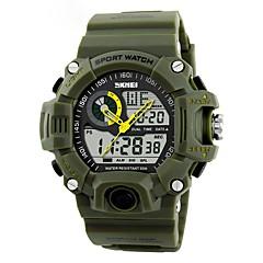 お買い得  メンズ腕時計-男性用 デジタルウォッチ デジタル ブラック / グリーン カレンダー クロノグラフ付き アナログ/デジタル カジュアル - レッド グリーン ブルー