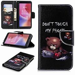 Недорогие Чехлы и кейсы для Xiaomi-Кейс для Назначение Xiaomi Redmi Note 5 Pro / Redmi 6 Кошелек / Бумажник для карт / со стендом Чехол Слова / выражения Твердый Кожа PU для Xiaomi Redmi Note 5 Pro / Redmi 6A / Redmi 6