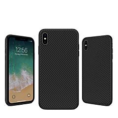 Недорогие Кейсы для iPhone 7 Plus-Кейс для Назначение Apple iPhone XS / iPhone XS Max Защита от удара / С узором Кейс на заднюю панель Полосы / волосы Твердый Углеродное волокно для iPhone XS / iPhone XR / iPhone XS Max