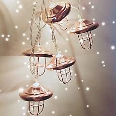 preiswerte LED Lichtstreifen-1.5 Leuchtgirlanden 10 LEDs Warmes Weiß Cool AA-Batterien angetrieben 1pc
