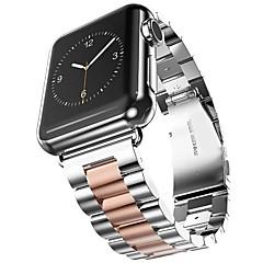 お買い得  メンズ腕時計-ステンレス 時計バンド ストラップ のために Apple Watch Series 3 / 2 / 1 ブラック / ゴールド 23センチメートル / 9インチ 2.1cm / 0.83 Inch
