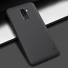 Недорогие Чехлы и кейсы для Xiaomi-Кейс для Назначение Xiaomi Xiaomi Pocophone F1 Защита от удара / Матовое Кейс на заднюю панель Однотонный Твердый ПК для Xiaomi Pocophone F1