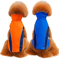 お買い得  犬用ウェア&アクセサリー-犬用 / 猫用 コート / ベスト 犬用ウェア ソリッド レッド / ブルー テリレン コスチューム ペット用 男女兼用 シンプルなスタイル / カジュアル / スポーティ