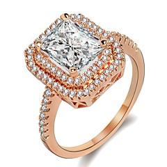 preiswerte Ringe-Damen Kubikzirkonia Stapel Ring - Romantisch 5 / 6 / 7 Rotgold Für Hochzeit / Party