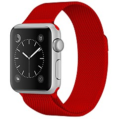 お買い得  メンズ腕時計-ステンレス 時計バンド ストラップ のために Apple Watch Series 3 / 2 / 1 レッド / ブラウン / グリーン 23センチメートル / 9インチ 2.1cm / 0.83 Inch
