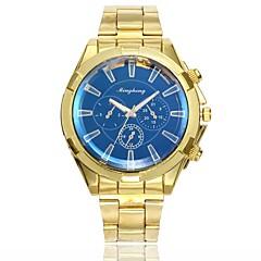 お買い得  メンズ腕時計-男性用 ドレスウォッチ リストウォッチ クォーツ 新デザイン カジュアルウォッチ 合金 バンド ハンズ カジュアル ファッション ゴールド - ホワイト ブルー 1年間 電池寿命