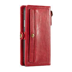 Недорогие Кейсы для iPhone 7-Кейс для Назначение Apple iPhone X Кошелек / Бумажник для карт Чехол Однотонный Твердый Кожа PU для iPhone X / iPhone 8 Pluss / iPhone 8