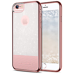 voordelige iPhone-hoesjes-bentoben case voor apple iphone 8 / iphone 7 plating / ultra dunne / glitter shine achterkant effen gekleurde zachte tpu / pc voor iphone 8 / iphone 7 / iphone 6s